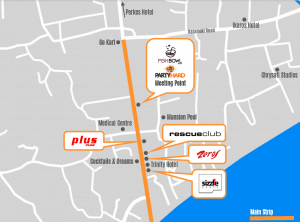 Map of clubs on Zante strip
