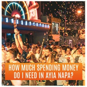 How much spending money do I need in Ayia Napa? Partygoers Outside Club